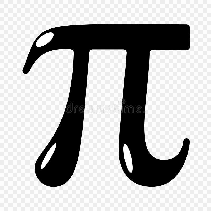 Ícone do símbolo do pi ilustração stock