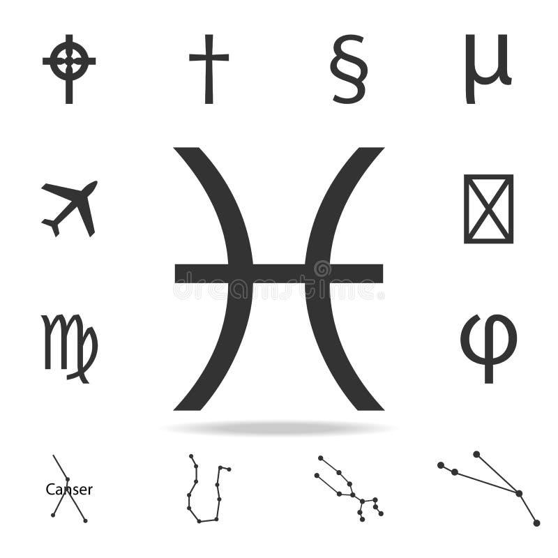 Ícone do símbolo do zodíaco dos Peixes Grupo detalhado de ícones da Web Projeto gráfico da qualidade superior Um dos ícones da co ilustração royalty free
