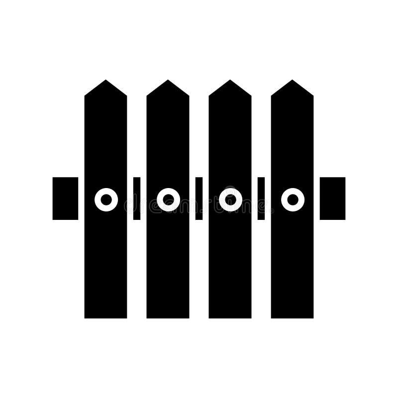 Ícone do sólido da cerca Ilustração do vetor isolada no branco projeto do estilo do glyph, projetado para a Web e o app Eps 10 ilustração royalty free