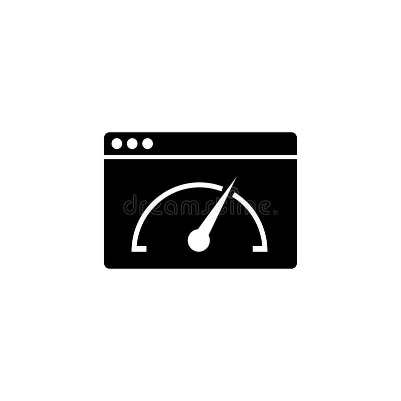 Ícone do sólido da velocidade da página ilustração stock