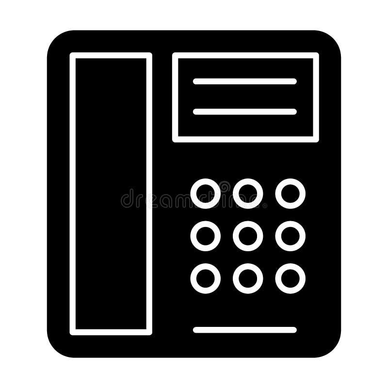 Ícone do sólido do telefone Ilustração do vetor do telefone isolada no branco Projeto velho do estilo do glyph do telefone, proje ilustração do vetor