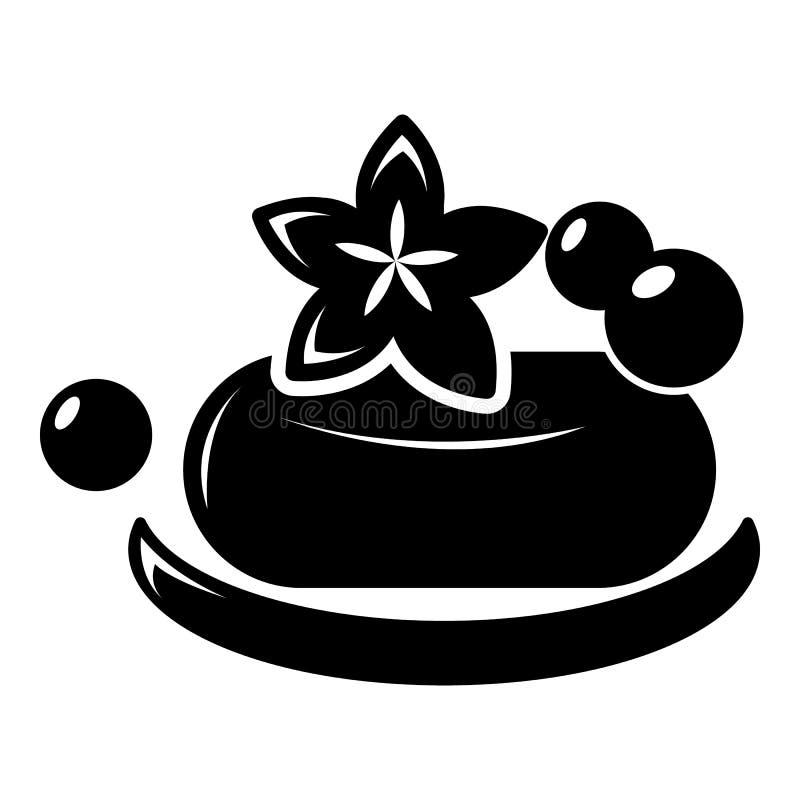 Ícone do sabão dos termas de Eco, estilo simples ilustração stock