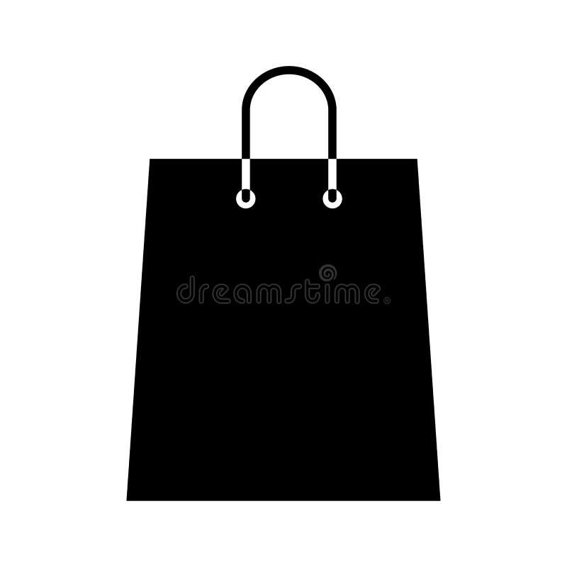 Ícone do saco de compras ilustração do vetor