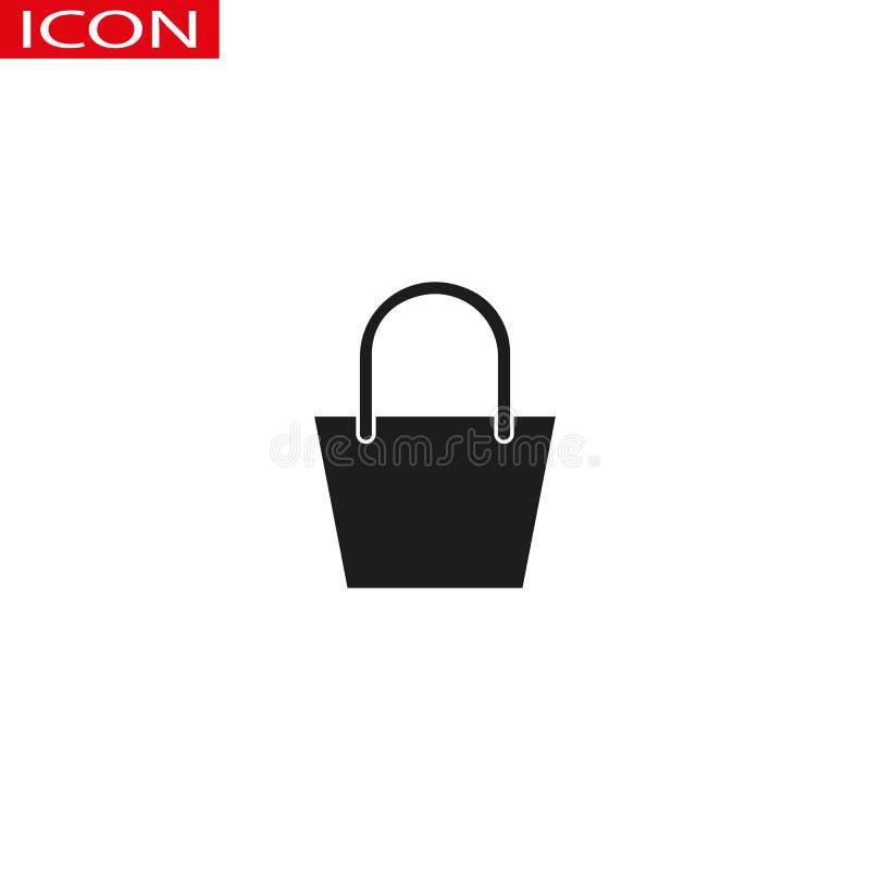 Ícone do saco de compras da venda Linha ícone ilustração do vetor