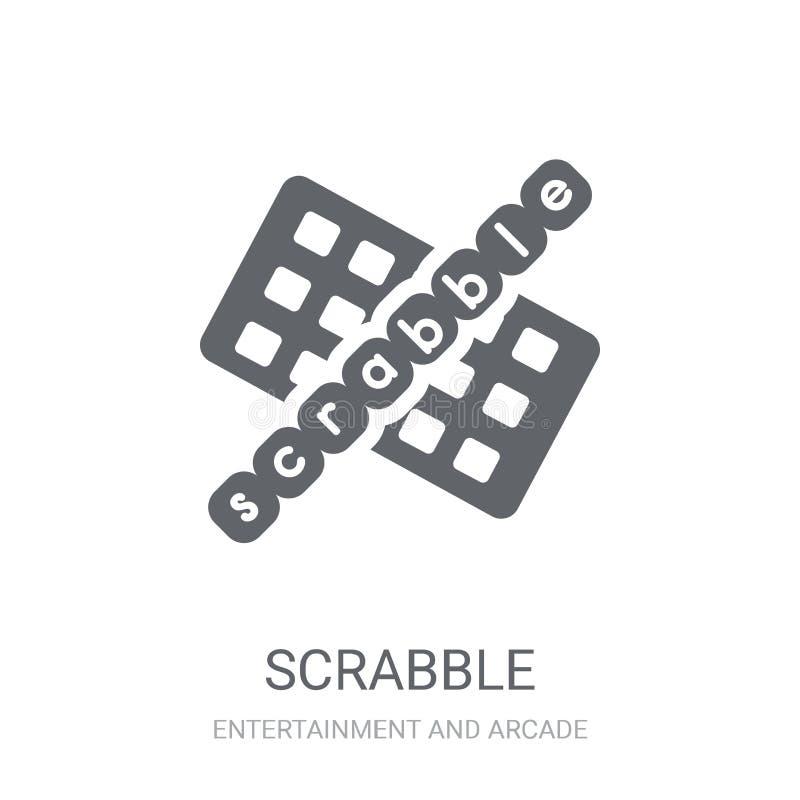 Ícone do Scrabble  ilustração do vetor