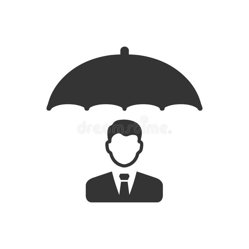 Ícone do seguro comercial ilustração do vetor