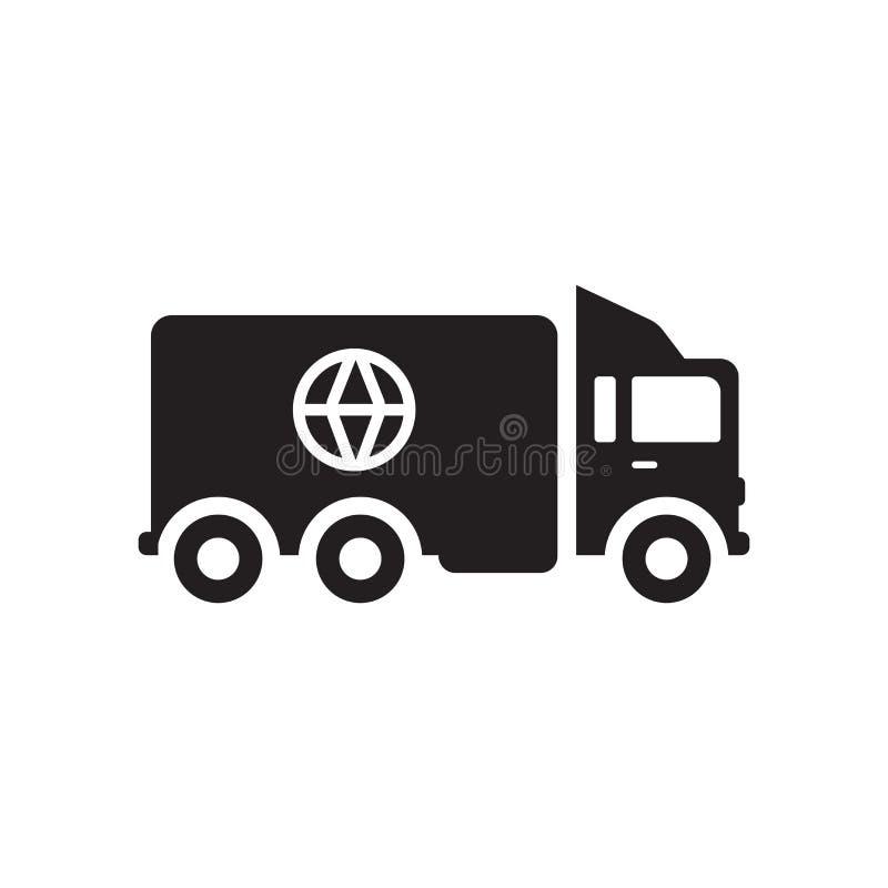 Ícone do seguro de carga  ilustração stock