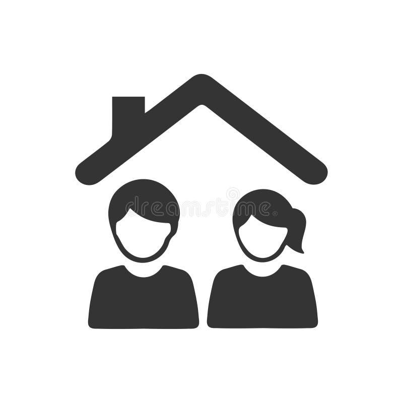Ícone do seguro de vida familiar ilustração royalty free