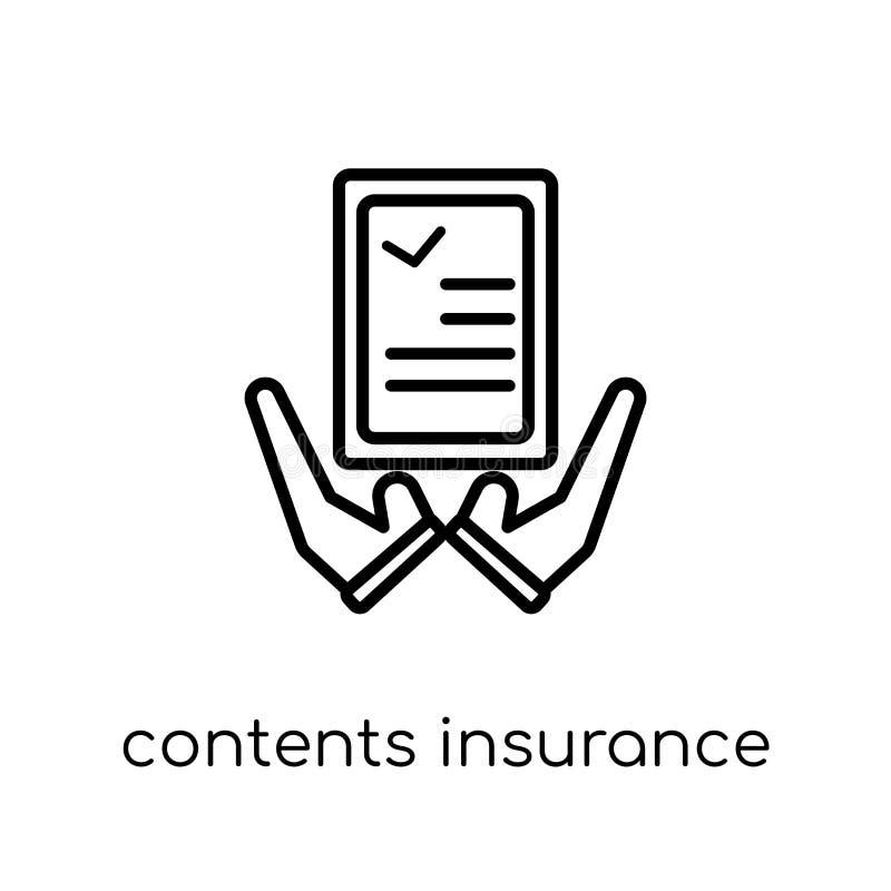 Ícone do seguro dos índices  ilustração stock