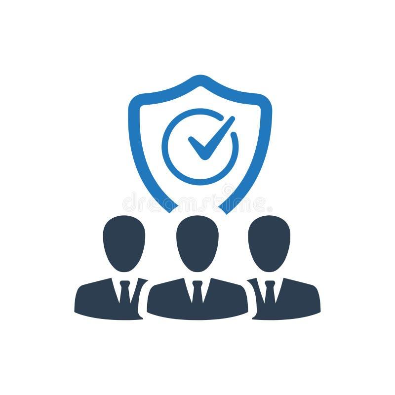 Ícone do seguro dos empregadores ilustração do vetor