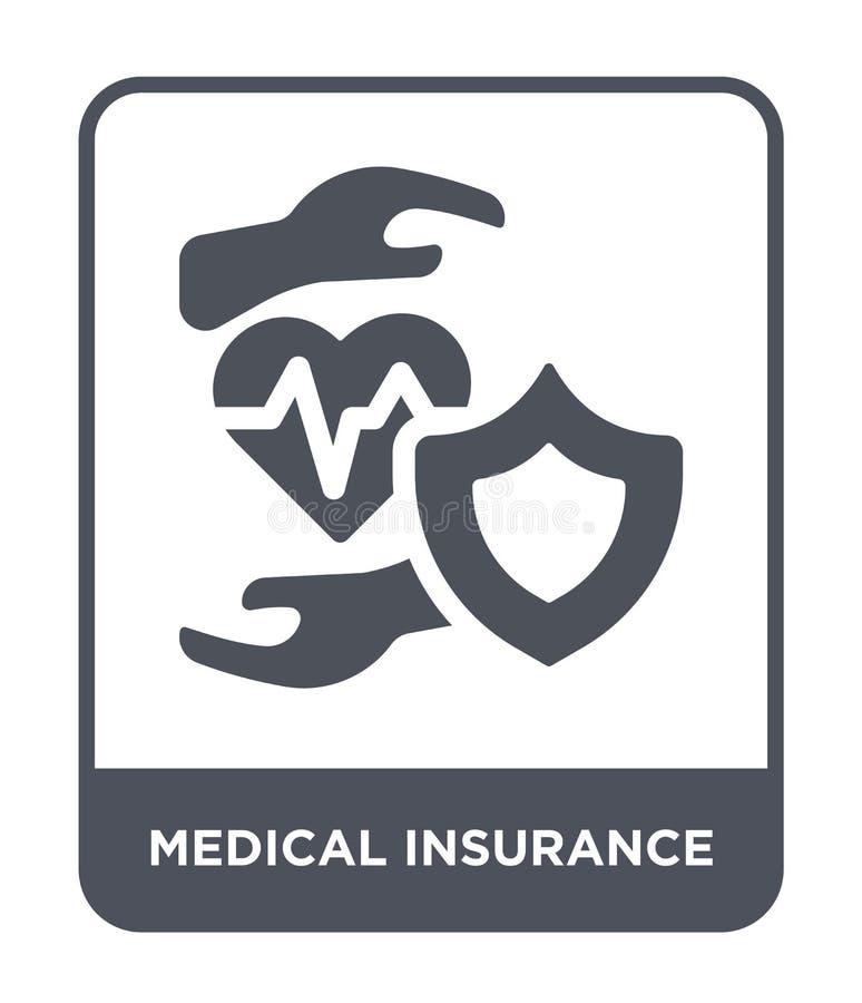 ícone do seguro médico no estilo na moda do projeto ícone do seguro médico isolado no fundo branco ícone do vetor do seguro médic ilustração stock