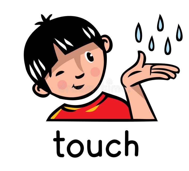 Ícone do sentido do toque ilustração stock