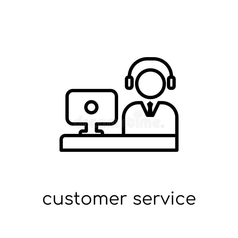 Ícone do serviço ao cliente da coleção de uma comunicação ilustração do vetor