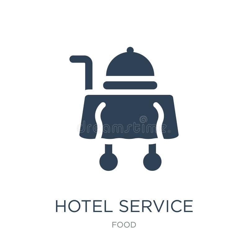 ícone do serviço de hotel no estilo na moda do projeto ícone do serviço de hotel isolado no fundo branco ícone do vetor do serviç ilustração royalty free