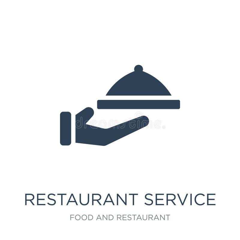 ícone do serviço do restaurante no estilo na moda do projeto ícone do serviço do restaurante isolado no fundo branco vetor do ser ilustração stock