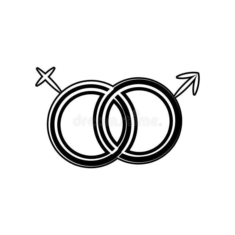Ícone do sexo do gênero Elemento da maternidade para o conceito e o ícone móveis dos apps da Web Glyph, ícone liso para o projeto ilustração do vetor