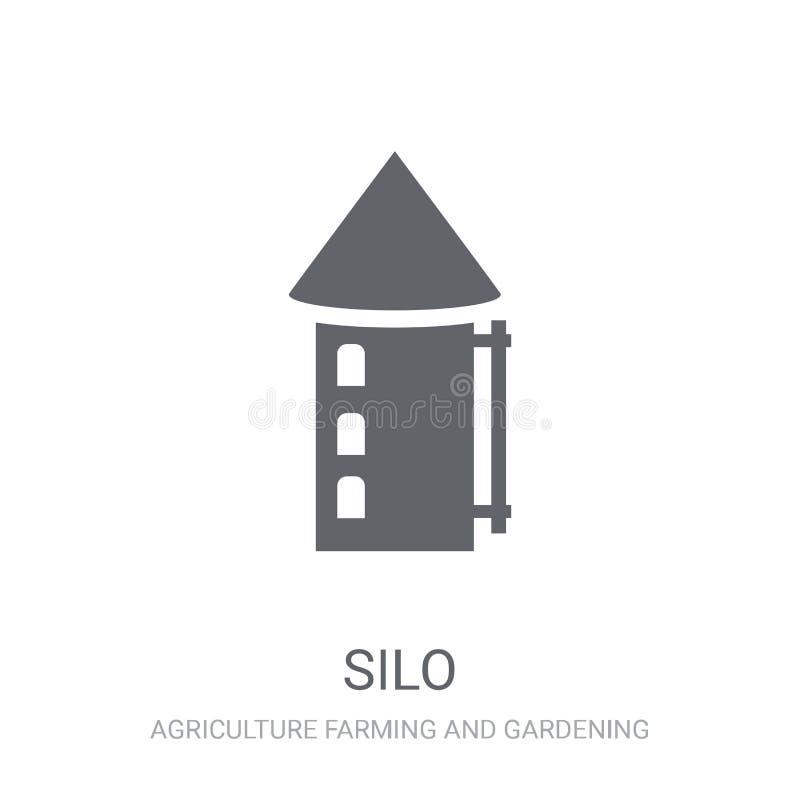Ícone do silo  ilustração do vetor