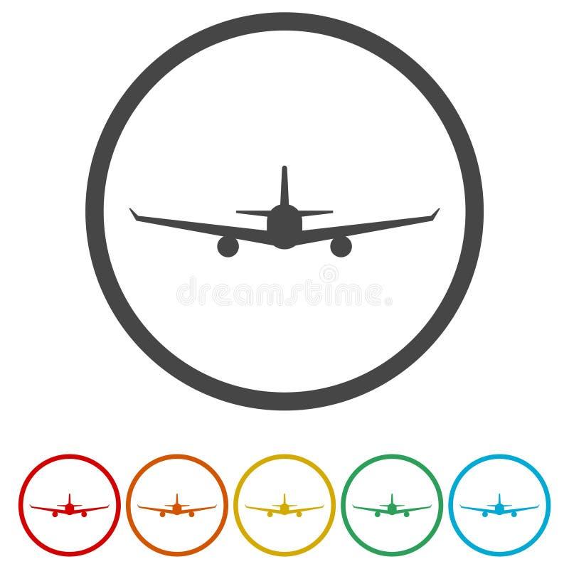 Ícone do sinal do avião Símbolo da viagem do curso ilustração do vetor