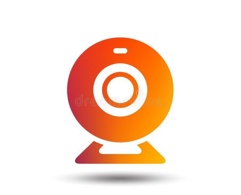 Ícone do sinal da câmara web Símbolo video do bate-papo da Web ilustração do vetor