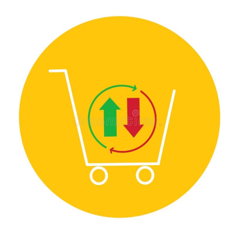 Ícone do sinal da carta do gráfico Símbolo do diagrama Compra-venda ilustração stock