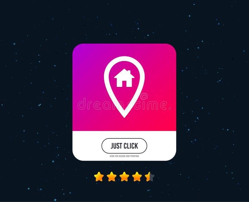 Ícone do sinal da casa do ponteiro do mapa Símbolo do marcador Vetor ilustração stock