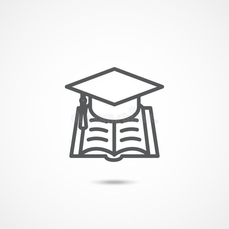 Ícone do sinal da educação ilustração do vetor