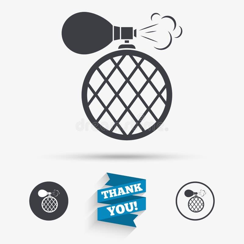 Ícone do sinal da garrafa de perfume Fragrância do encanto ilustração do vetor