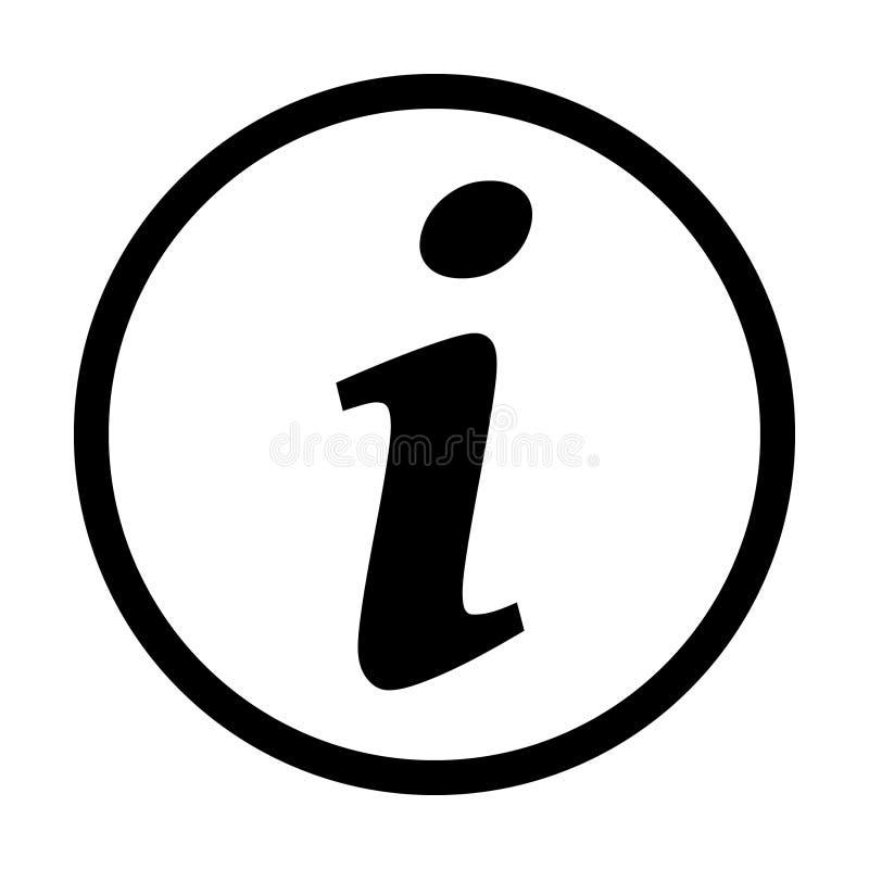 Ícone do sinal da informação, ícone da informação ilustração stock