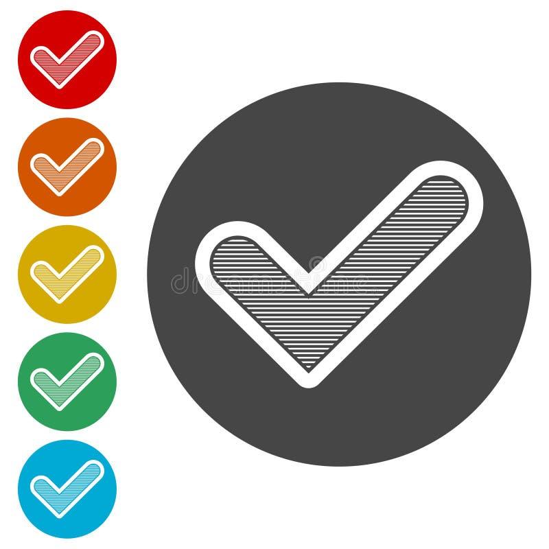 Ícone do sinal, ícone da marca de verificação - ilustração do vetor