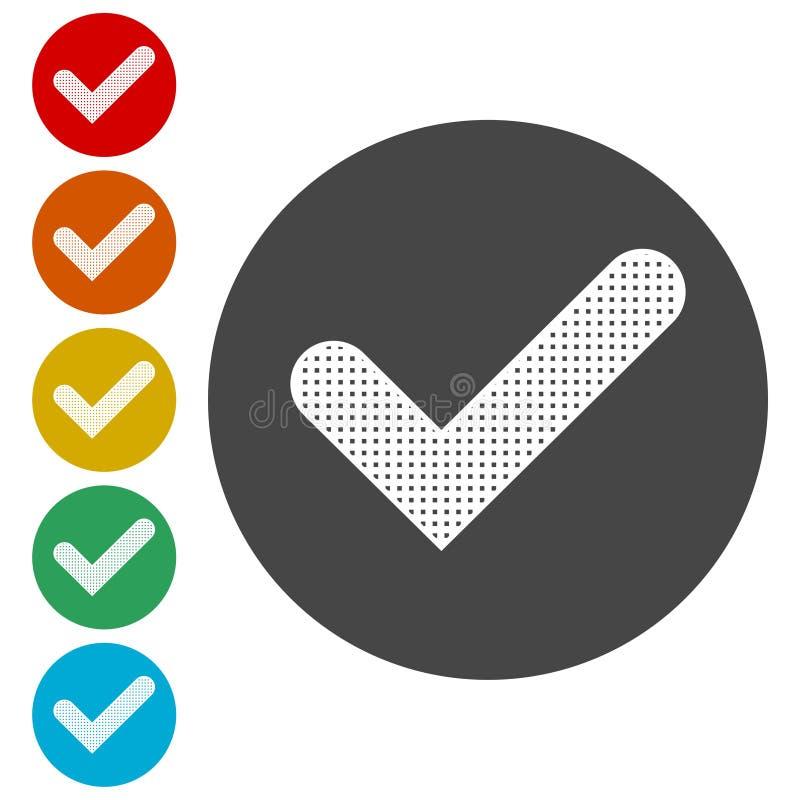 Ícone do sinal, ícone da marca de verificação - ilustração royalty free