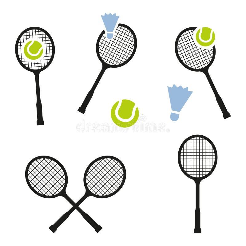 Ícone do sinal da raquete de tênis Símbolo do esporte ilustração stock