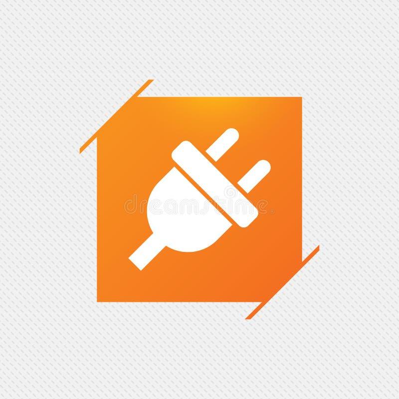 Ícone do sinal da tomada elétrica Símbolo da energia do poder ilustração stock