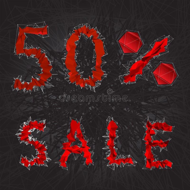 ícone do sinal da venda de 50% Símbolo do disconto Venda de Black Friday, estação d ilustração do vetor