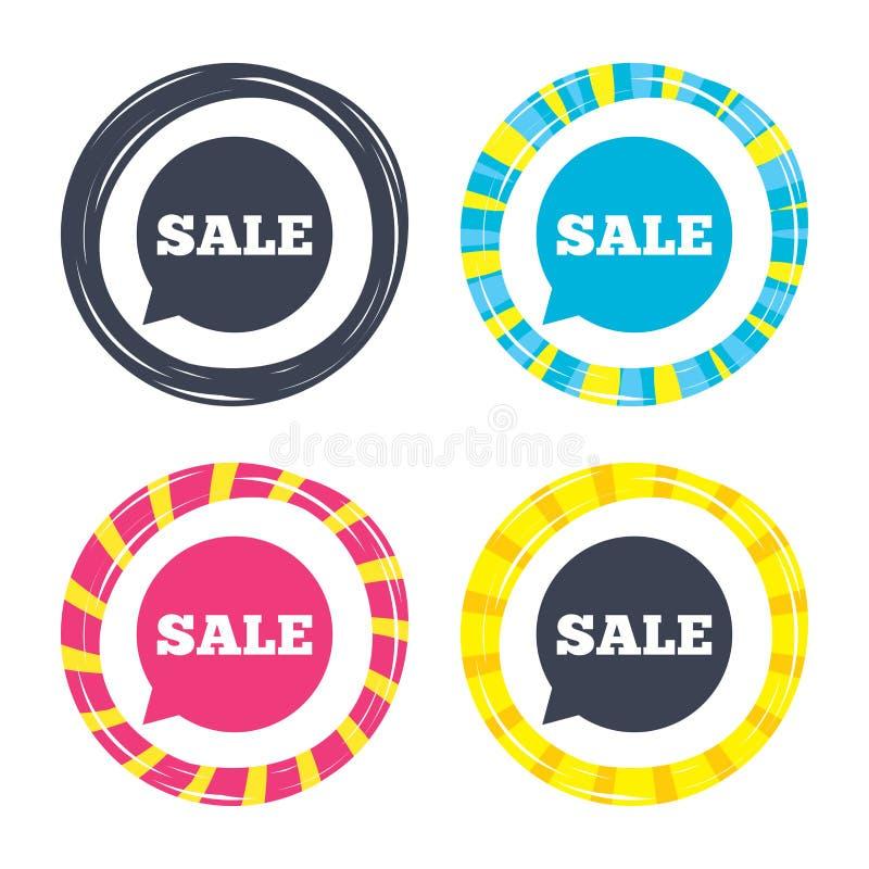 Ícone do sinal da venda Símbolo da oferta especial ilustração do vetor