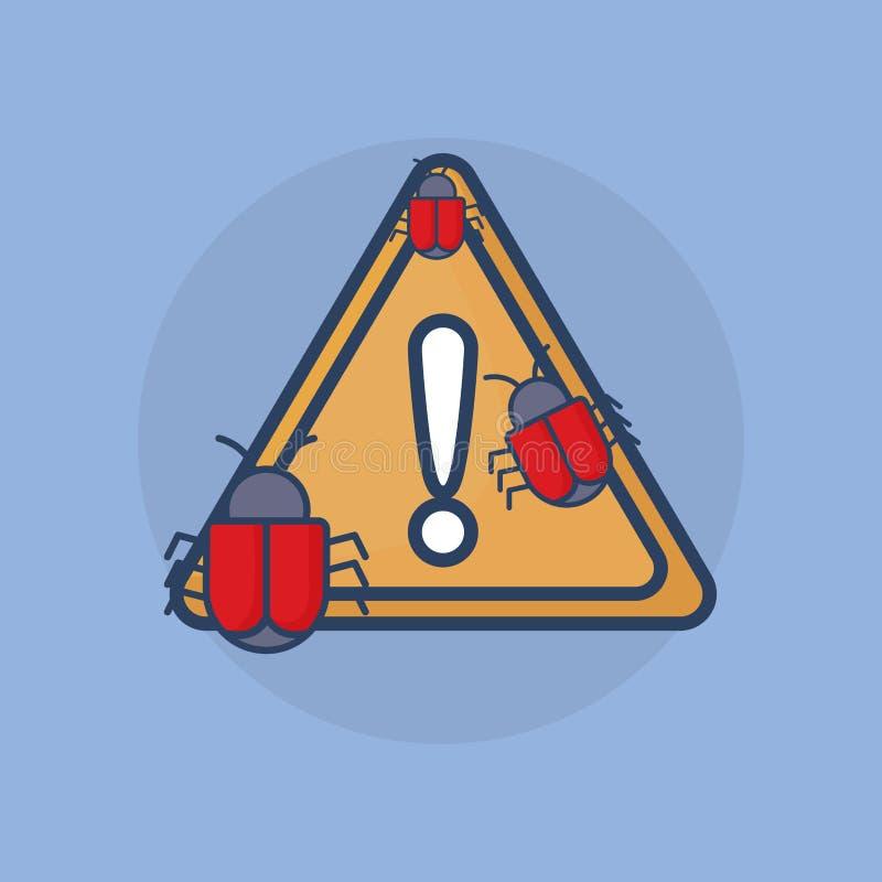 Ícone do sinal de aviso ilustração do vetor