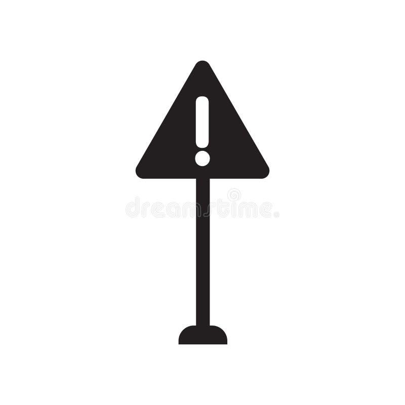 Ícone do sinal de aviso  ilustração stock