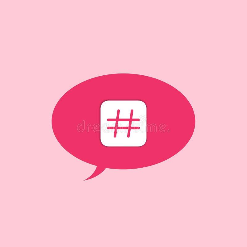 Ícone do sinal de Hashtag ilustração stock