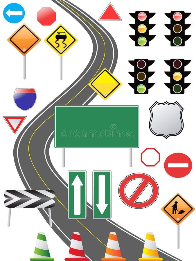 Ícone do sinal de tráfego ilustração do vetor