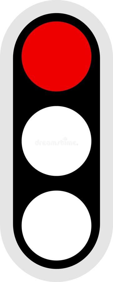 Ícone do sinal de tráfego ilustração stock