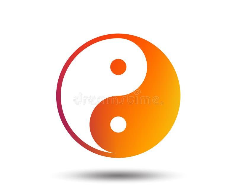 Ícone do sinal de Ying yang Símbolo da harmonia e do equilíbrio ilustração stock
