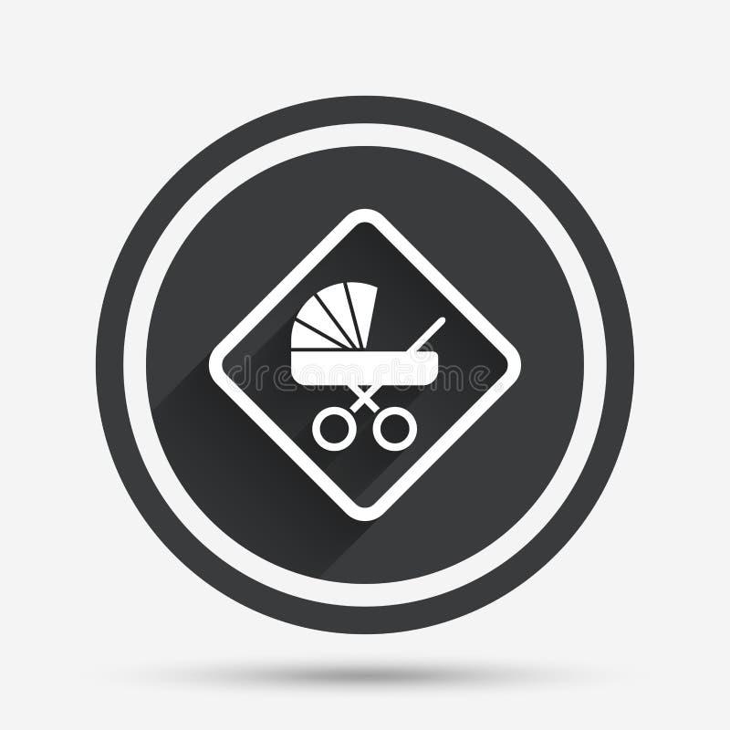 Ícone do sinal do bebê a bordo Símbolo infantil do cuidado ilustração stock