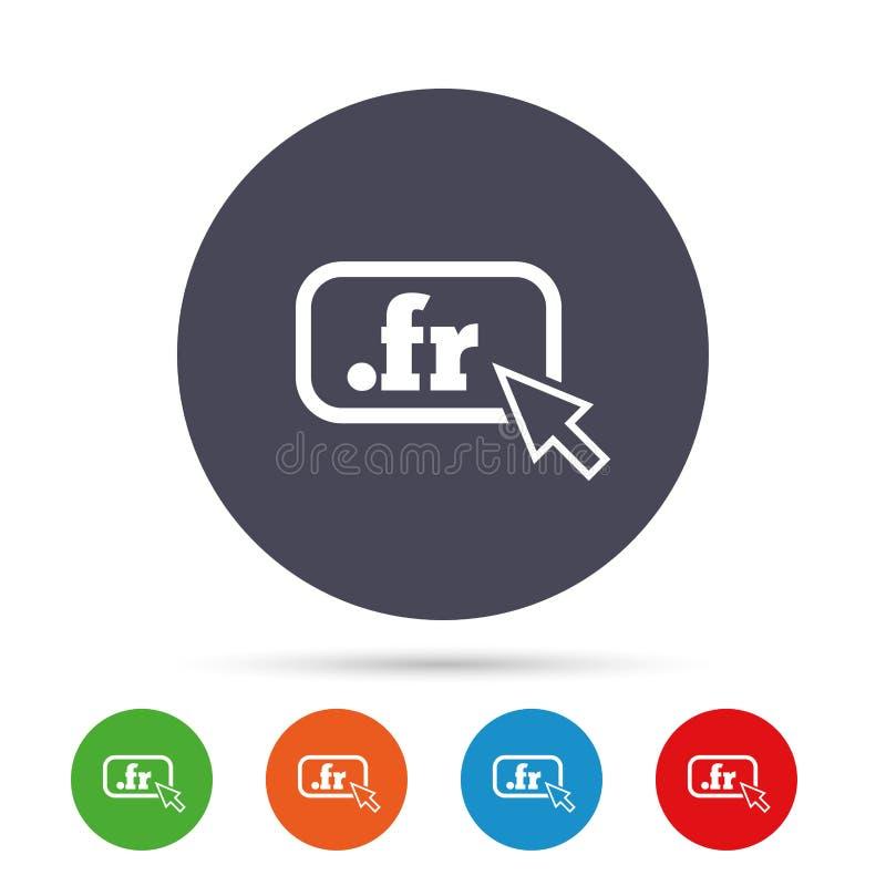 Ícone do sinal do franco do domínio Domínio nível mais alto do Internet ilustração stock