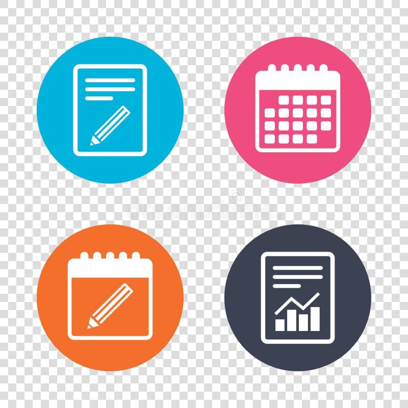 Ícone do sinal do lápis Edite o botão satisfeito ilustração stock