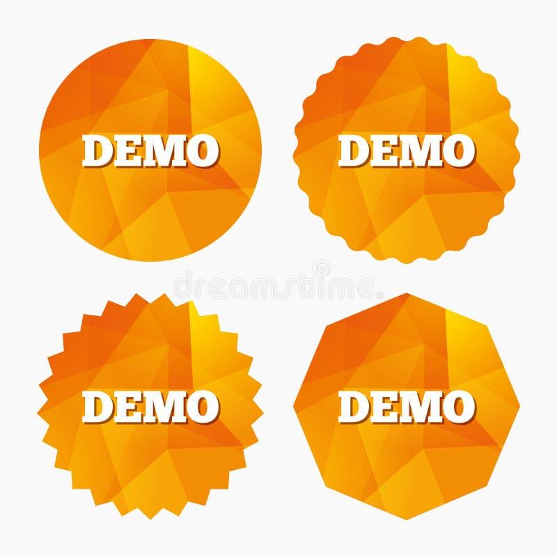 Ícone do sinal do programa demonstrativo Símbolo da demonstração ilustração stock