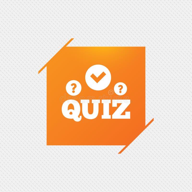 Ícone do sinal do questionário Jogo das perguntas e resposta ilustração do vetor