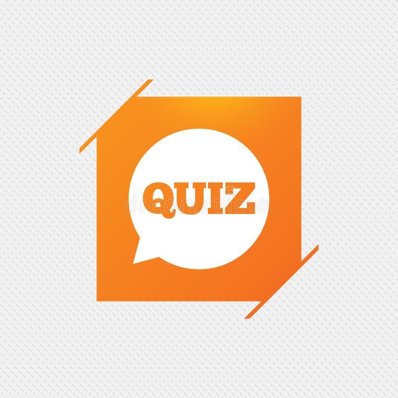 Ícone do sinal do questionário Jogo das perguntas e resposta ilustração stock