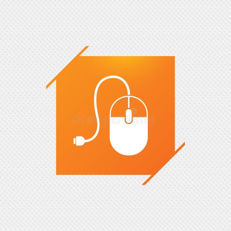 Ícone do sinal do rato do computador Ótico com roda ilustração royalty free
