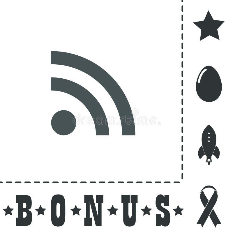 Ícone do sinal do RSS símbolo da alimentação ilustração royalty free