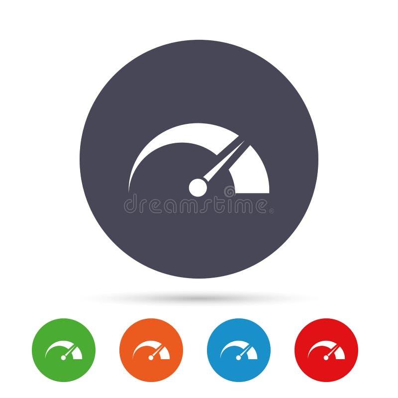 Ícone do sinal do tacômetro símbolo do Revolução-contador ilustração royalty free