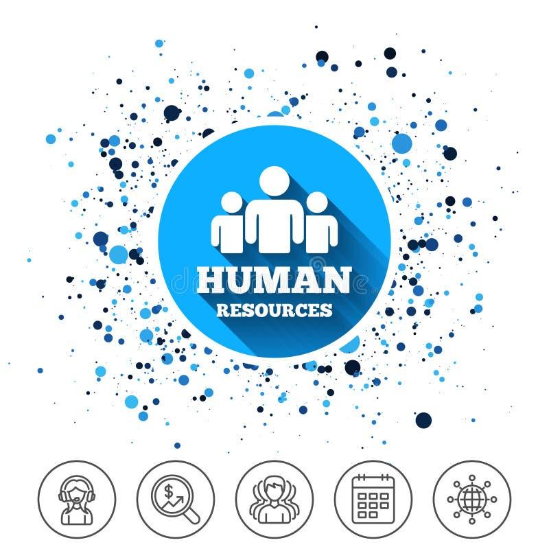 Ícone do sinal dos recursos humanos Símbolo da hora ilustração do vetor